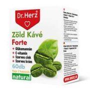 Dr. Herz Zöld Kávé 200mg + króm + C-vitamin kapszula (60 db)