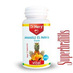 Dr. Herz Ananász-Papaya kapszula (60 db)