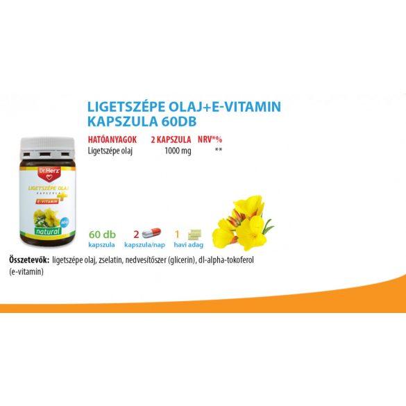 Dr. Herz Ligetszépe olaj + E-vitamin kapszula (60 db)