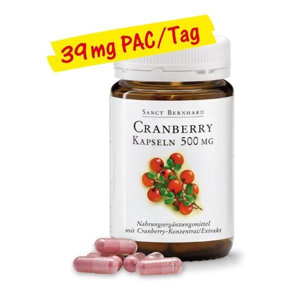 Sanct Bernhard Tőzegáfonya 500 mg (90 db)