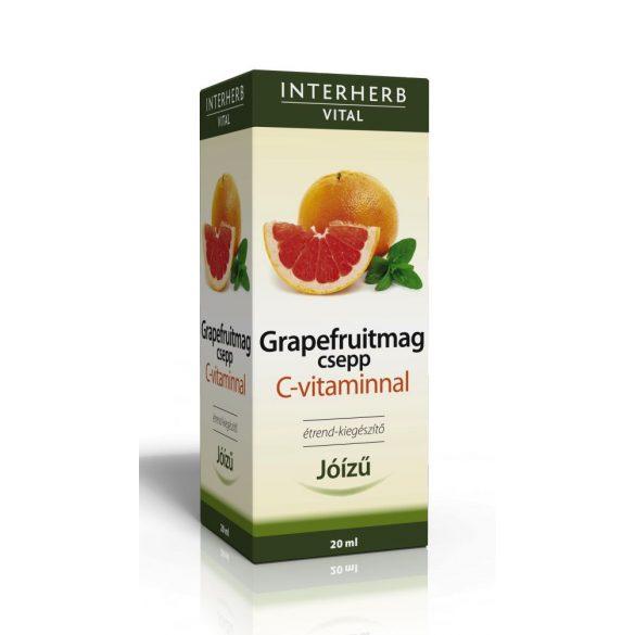 Interherb Vital Grapefruitmag csepp C-vitaminnal (20 ml)