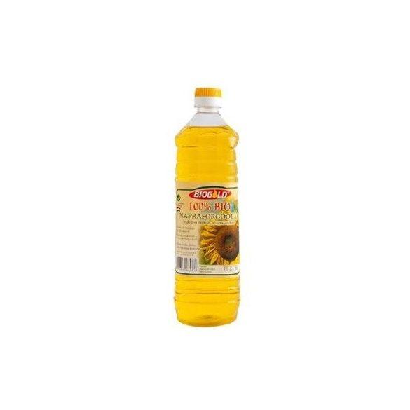 Biogold Hidegen sajtolt bio napraforgó olaj szagtalanított (1000 ml)