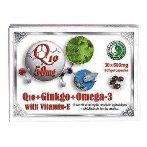 Dr. Chen Q10 50 mg + Ginkgo + Omega-3 (30 db)