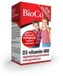 BioCo D3 vitamin 400 rágótabletta gyerekeknek (60 db)