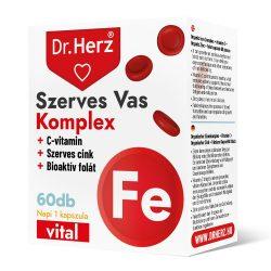 Dr. Herz Szerves Vas Komplex + cink tabletta (60 db)