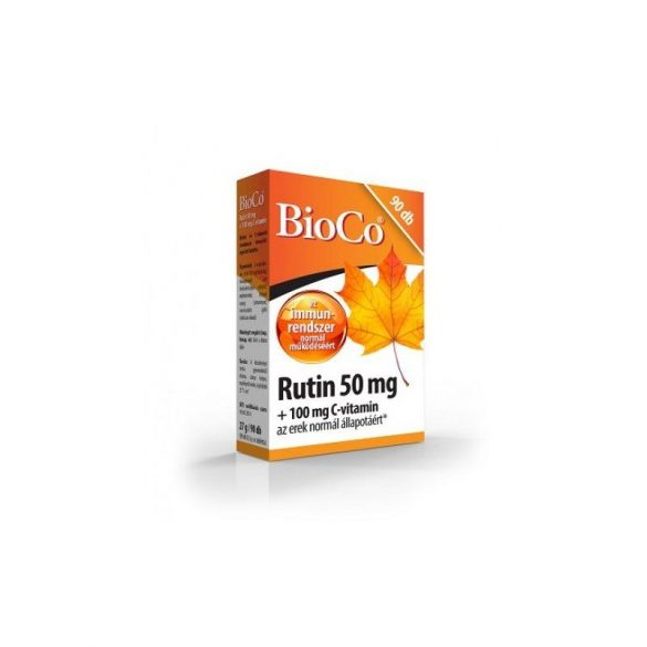 BioCo Rutin 50 mg + 100 mg C- vitamin tabletta (90 db)