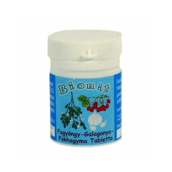 Bionit Fokhagyma-galagonya-fagyöngy tabletta (70 db)