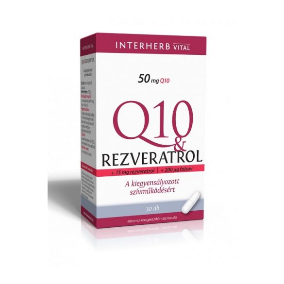 Interherb Vital Q10 Rezveratrol kapszula ( 30 db)
