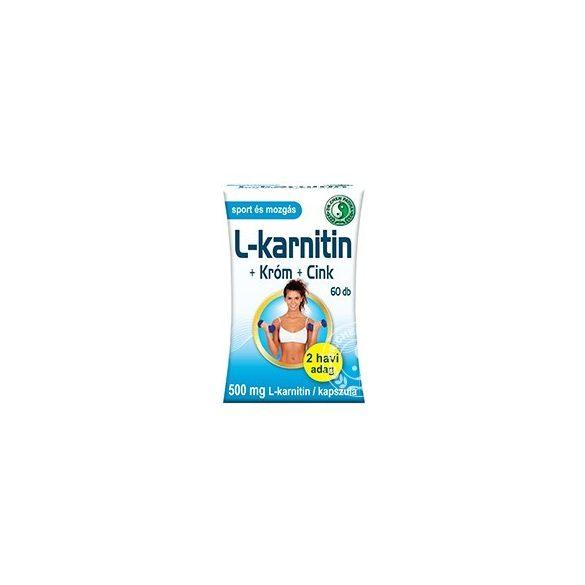 Dr. Chen L-karnitin 500 + Króm + Cink kapszula (60 db)