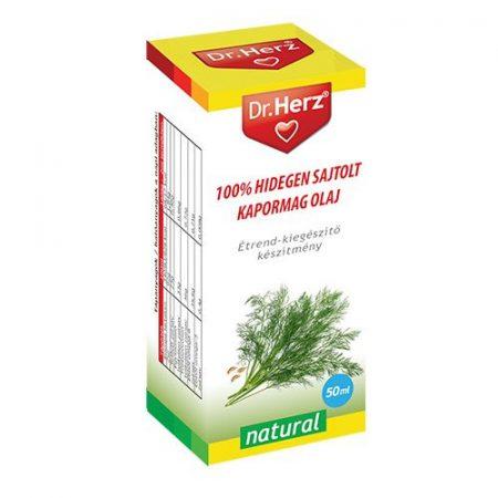 Dr. Herz 100% Hidegen sajtolt kapormag olaj (50 ml)