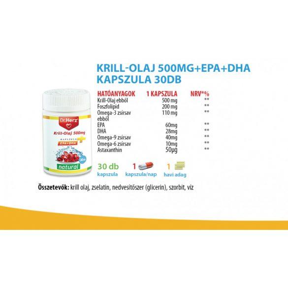 Dr. Herz Krill Olaj kapszula 500mg (60 db)