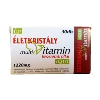 Életkristály multivitamin tabletta rezveratrollal + Q10 (30 db)