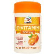 1x1 Vitaday C-vitamin 500 mg rágótabletta csipkebogyós (60 db)