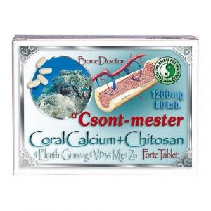 Dr. Chen Coral Calcium + chitosan forte tabletta (80 db)