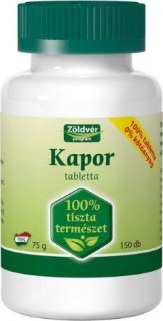Zöldvér Kapor tabletta 100 % (150 db)