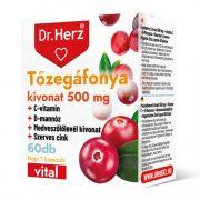 Dr. Herz Tőzegáfonya Forte + Aranyvessző tabletta (60 db)