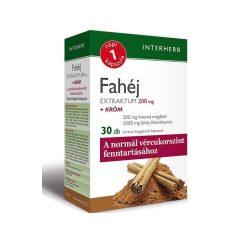Interherb Napi 1 Fahéj extraktum 200 mg + króm kapszula (30 db)