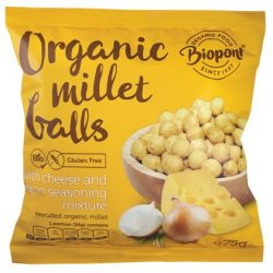 Biopont Bio Extrudált kölesgolyó sajtos-hagymás ízű (75 g)