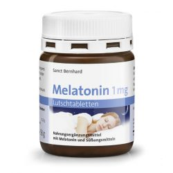 Sanct Bernhard Melatonin 1 mg rágótabletta bodza és citrus ízesítéssel (120 db)