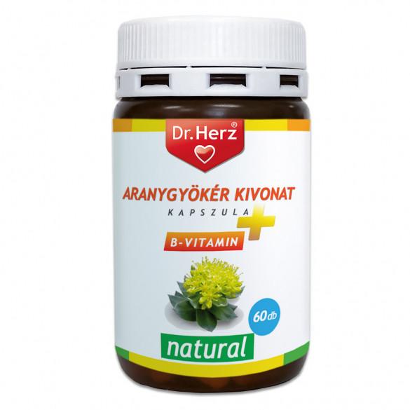Dr. Herz Aranygyökér + B-vitamin kapszula (60 db)