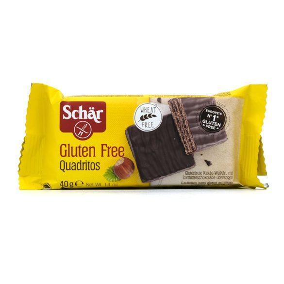Schär gluténmentes Quadritos kakaós ostya (40 g)