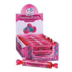 1x1 Vitaday Szőlőcukor rágótabletta magnézium + B6 vitamin, málnás ízű (17 db)