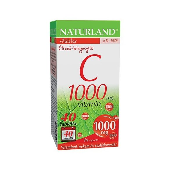 Naturland C-vitamin 1000 mg tabletta (40 db)