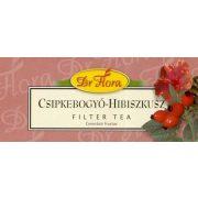 Dr. Flora Csipkebogyó-hibiszkusz filteres tea (25x1 g)