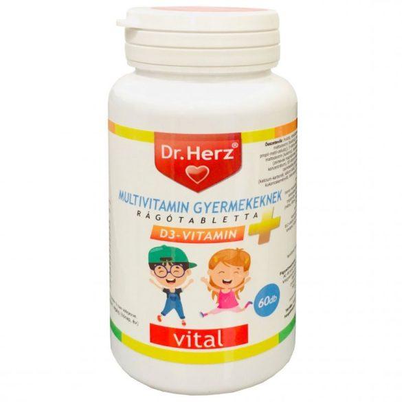 Dr. Herz Multivitamin Gyerekeknek + Lactobacillus rágótabletta (60 db)