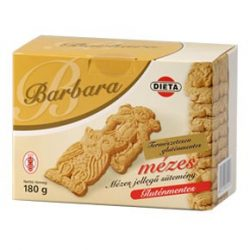 Barbara gluténmentes mese mézes sima teasütemény (180 g)