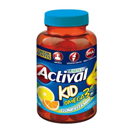 Béres Actival Kid Omega-3 gumivitamin (30 db)