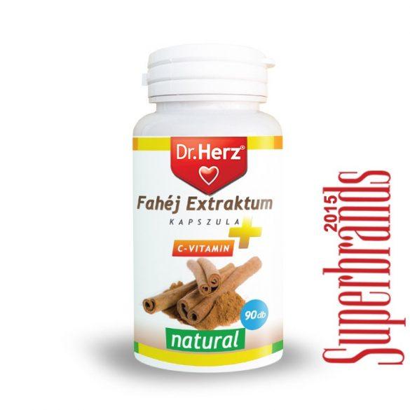 Dr. Herz Fahéj extractum + C-vitamin kapszula (90 db)