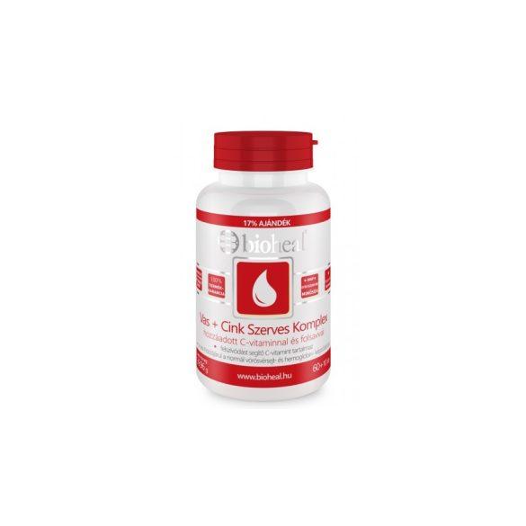 Bioheal Vas+Cink komplex + C-vitaminnal és folsavval (70 db)