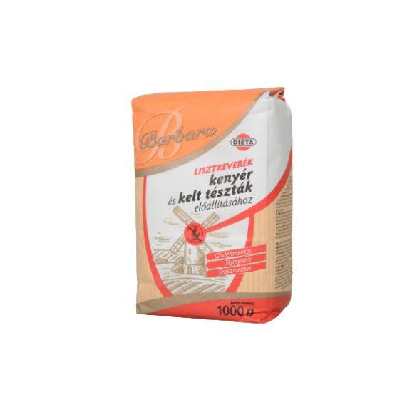 Barbara gluténmentes lisztkeverék kenyérhez (1000 g)