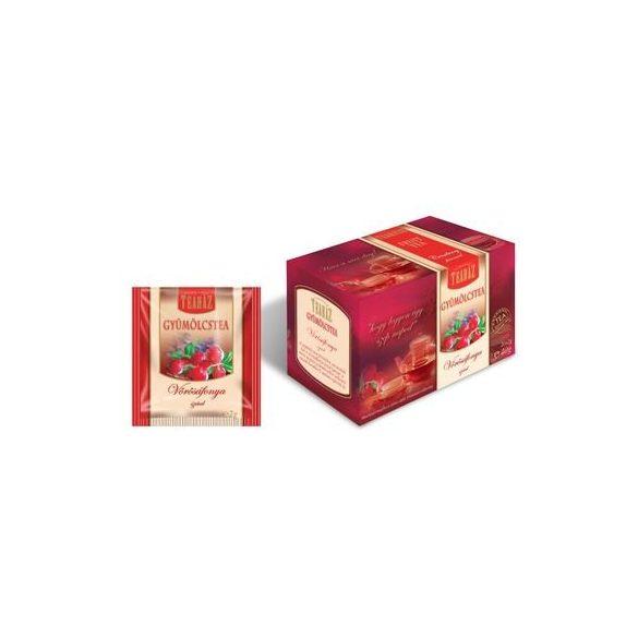 Teaház Vörösáfonyás gyümölcstea, filteres (20 db)