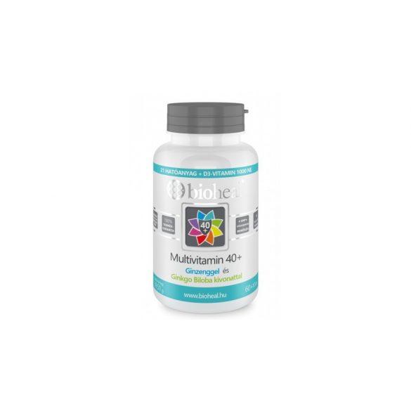 Bioheal Multivitamin 40+ Ginzenggel és Ginkgo Biloba kivonattal (70 db)