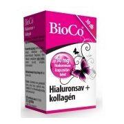 BioCo Hialuronsav + Kollagén kapszula (30 db)