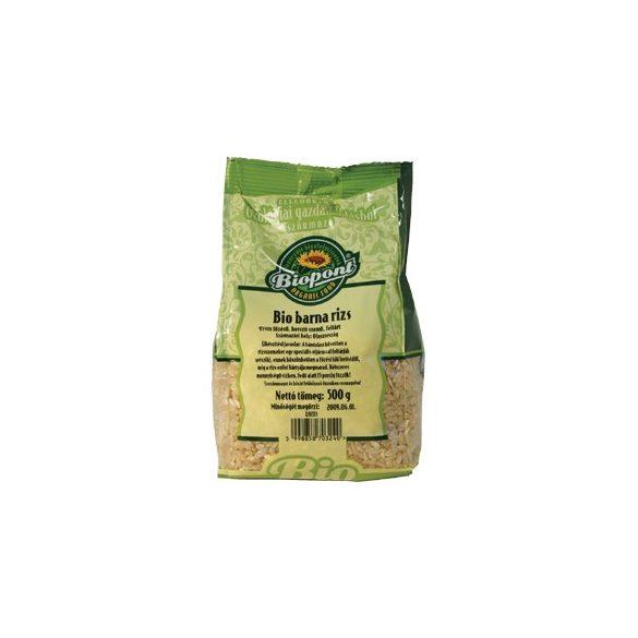 Biopont Bio barna rizs, gyors főzésű, hosszú szemű (500 g)